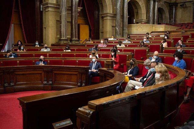 Vista de l'hemicicle del Parlament de Catalunya
