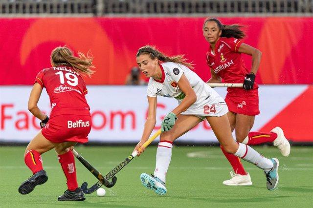 Archivo - Antwerp, 21-08-2019, EuroHockey Championship (Women) 2019. Venue: Sportcentrum Wilrijkse Plein. Alejandra Torres-Quevedo during the game Belgium vs Spain.