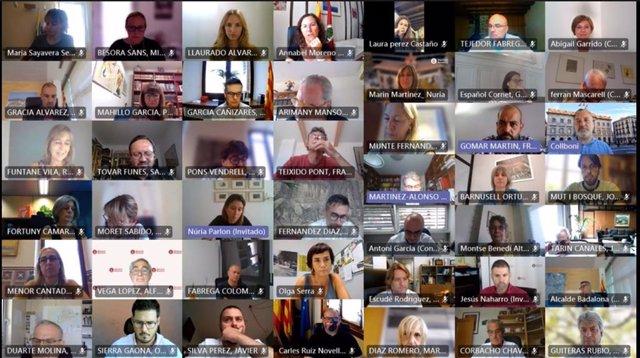 Participantes en el pleno de la Diputación de Barcelona de este jueves.