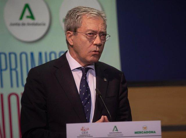 El consejero de Transformación Económica, Industria, Conocimiento y Universidades, Rogelio Velasco, en foto de archivo.