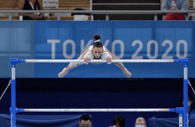 La gimnasta española Roxana Popa, 22ª en la final del concurso completo individual de gimnasia artística de los Juegos Olímpicos de Tokyo 2022