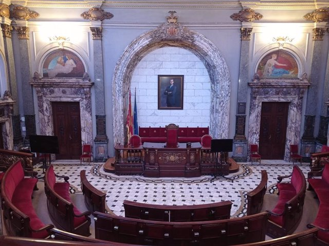 Saló plenari de l'Ajuntament de València