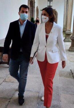 Gonzalo Caballero y Reyes Maroto, en Santiago