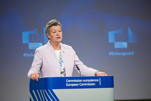 Archivo - La comisaria europea del interior, Ylva Johansson.