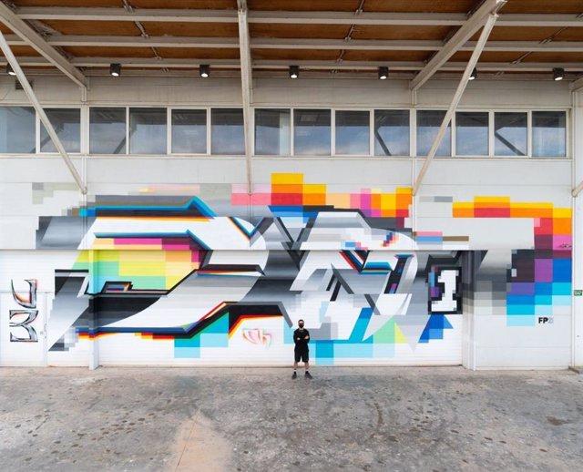 Felipe Pantone pone el broche de oro a la ruta Art a La Marina