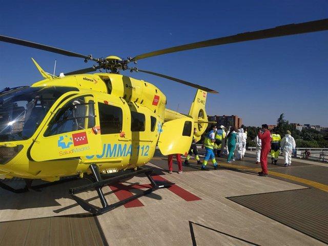 Helicóptero del Summa 112 Comunidad de Madrid