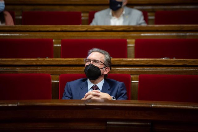 El conseller d'Economia i Hisenda de la Generalitat, Jaume Giró, durant una sessió plenària en el Parlament de Catalunya, a 29 de juliol de 2021, a Barcelona, Catalunya, (Espanya).
