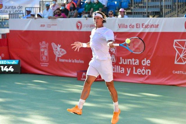 Feliciano López en el torneo de El Espinar