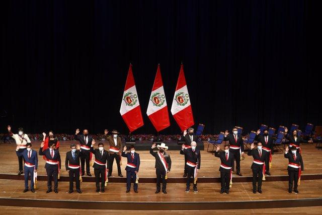 Toma de posesión del Toma de posesión del nuevo Gobierno de Pedro Castillo en Perú.nuevo Gobierno de Pedro Castillo en Perú.