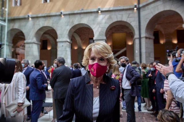 Archivo - La ex presidenta de la Comunidad de Madrid Esperanza Aguirre en la Real Casa de Correos de la Puerta del Sol