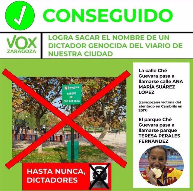 Varias asociaciones vecinales se oponen a cambiar el nombre del Che Guevara en una calle y parque por los dw Teresa Perales y Ana María Suárez