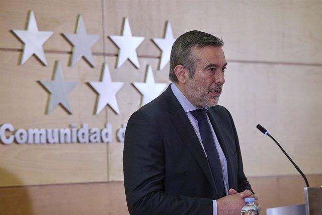 Archivo - El consejero de Presidencia, Justicia e Interior de la Comunidad de Madrid, Enrique López