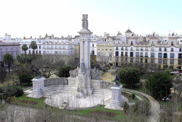 Archivo - Plaza de España de Cádiz