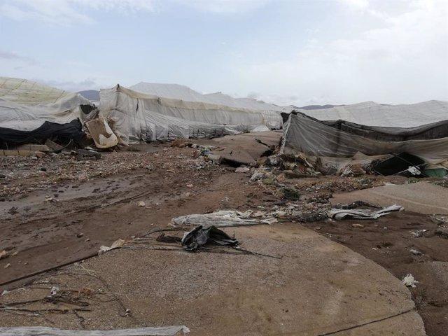 Archivo - Daños por lluvias registrados en Níjar (Almería)