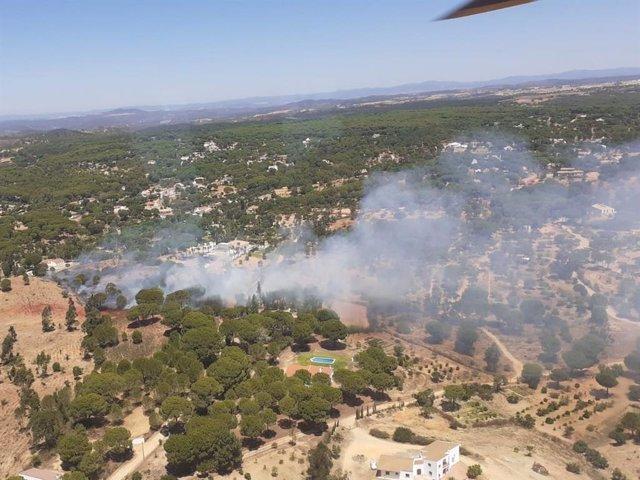 Imagen del incendio en Torres de Albanchez