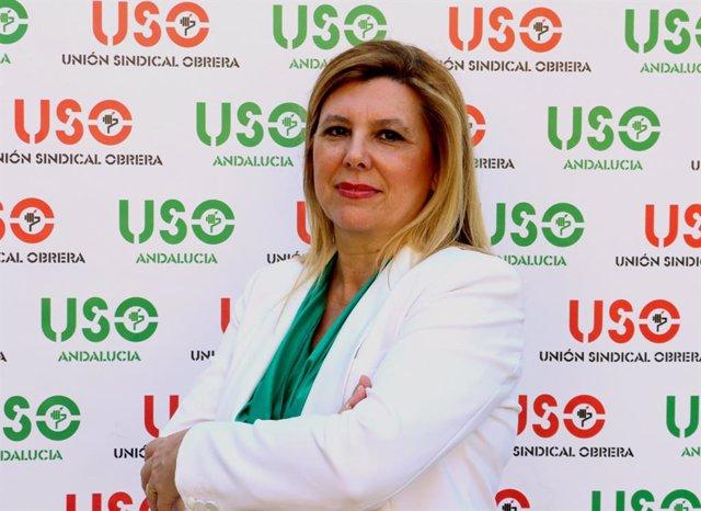 Archivo - La secretaria general de Feuso Andalucía,María de la Paz Agujetas
