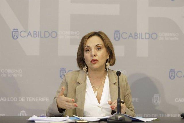Archivo - Vicepresidenta y consejera de Presidencia, Hacienda y Modernización del Cabildo de Tenerife, Berta Pérez