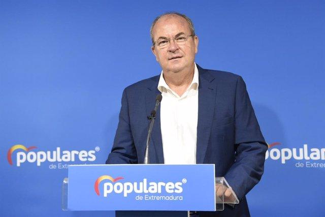 El presidente del PP de Extremadura, José Antonio Monago, en una imagen de archivo