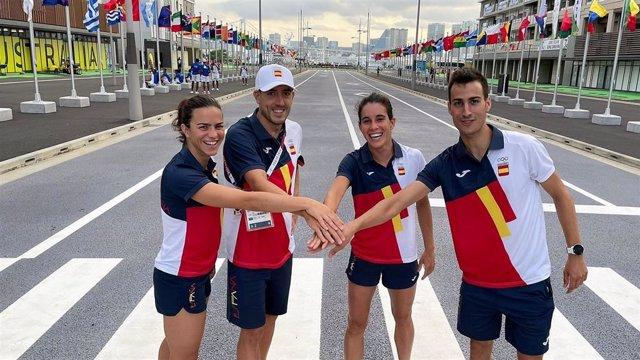 El relevo mixto español de triatlón