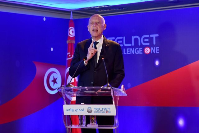 Archivo - El presidente de Túnez, Kais Saied