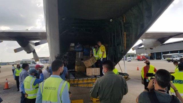 Ajuda humanitària a Cuba procedent de Bolívia