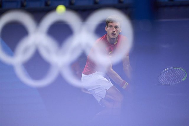 El tenista español Pablo Carreño en los Juegos Olímpicos de Tokyo 2020.