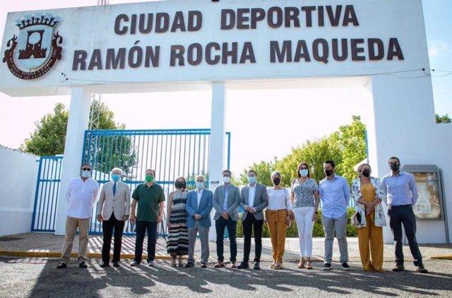 Acto de homenaje al exalcalde de Olivenza Ramón Rocha Maqueda
