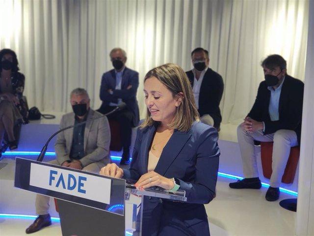 La presidenta de FADE, María Calvo.