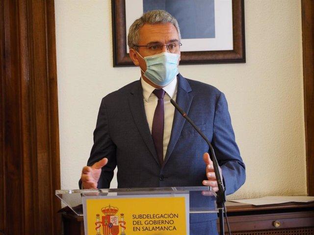 Javier Izquierdo en un acto en Salamanca.