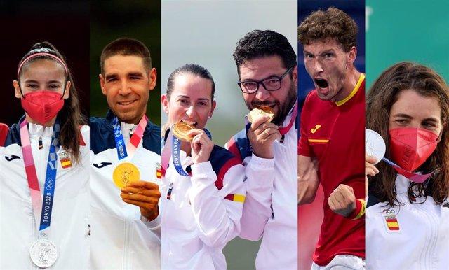 Adriana Cerezo, David Valero, Fátima Gálvez, Pablo Carreño y Maialen Chourraut, medallistas españoles tras los primeros ocho días de competición en Tokyo 2020