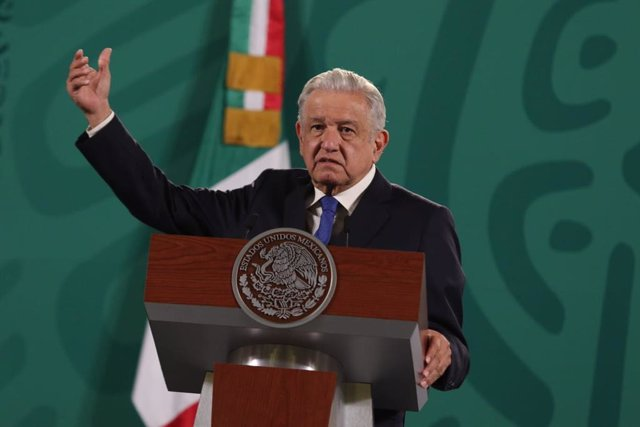 23 July 2021, Mexico, Mexico City: Mexican President Andres Manuel Lopez Obrador speaks during his daily press conference at the National Palace. Photo: El Universal/El Universal via ZUMA Press Wire/dpa