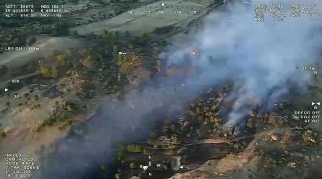 Incendio en Malpartida de Cáceres