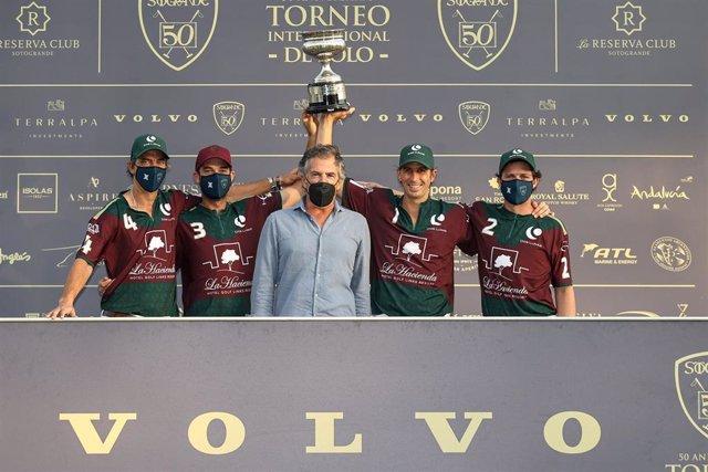 Dos Lunas la Hacienda gana la Copa de Bronce Volvo de alto hándicap del 50 Torneo Internacional de Polo.