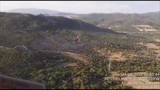Incendio de Alcalá de los Gazules.