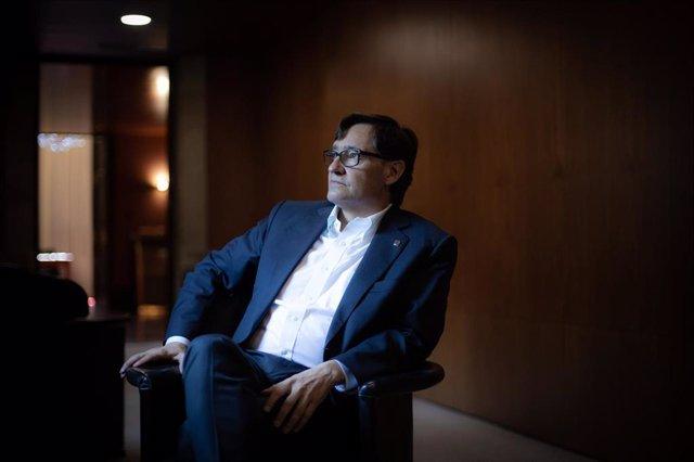 El líder del PSC en el Parlament, Salvador Illa.
