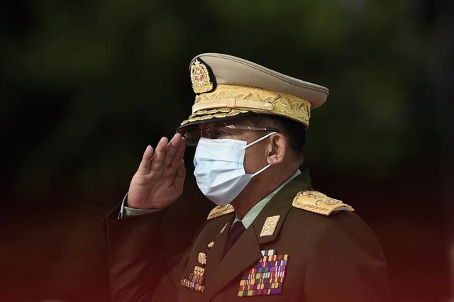 Archivo - El jefe de la junta militar de Birmania, Min Aung Hlaing