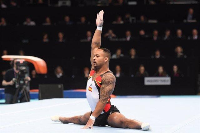 Archivo - Rayderley Zapata, principal baza de la gimnasia artística española en los Juegos de Tokyo 2020.