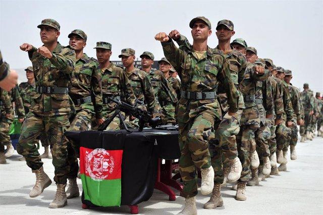 Archivo - Fuerzas de seguridad afganas en Kabul