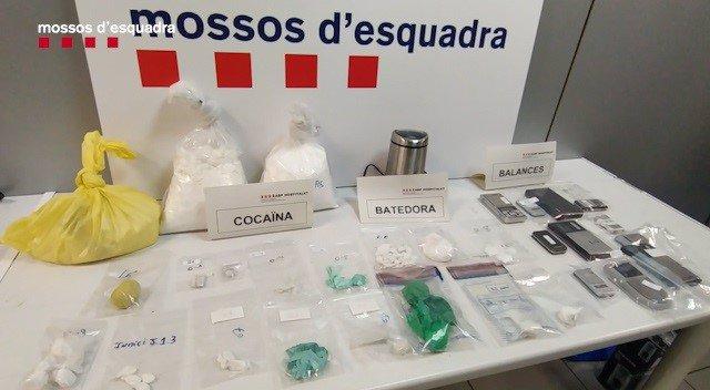 Droga i material requisada pels Mossos d'Esquadra
