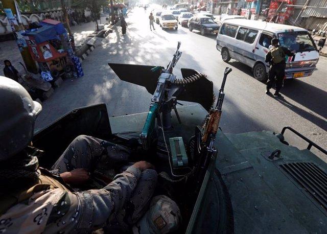Archivo - Explosió a Kabul.