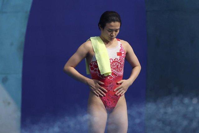 La china Tingmao Shi durante los Juegos Olímpicos de Tokio