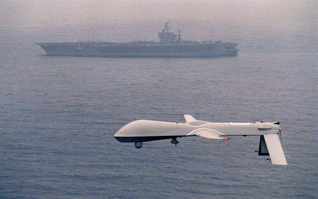Archivo - Un dron de EEUU