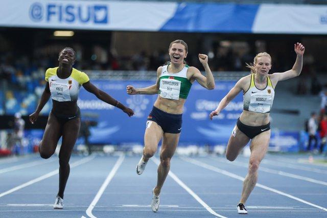 La atleta olímpica bielorrusa Krystsina Tsimanouskaya.
