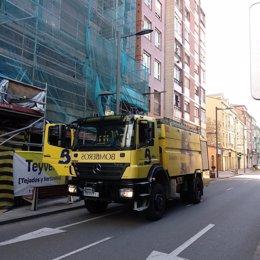 Archivo - Un camión de Bomberos del Servicio de Emergencias del Principado de Asturias (SEPA), en una imagen de archivo