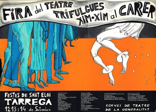 Cartell de la primera edició de la Fira de Teatre al Carrer de Tàrrega (Lleida)  FiraTàrrega