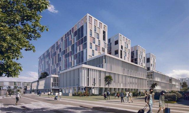 Imagen del nuevo hospital de Málaga
