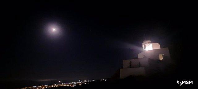 Baliza del faro de Mojácar (Almería)