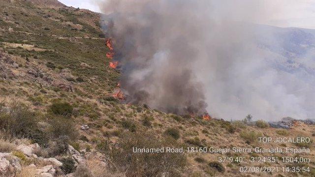 Incendio en el Monte La Solana