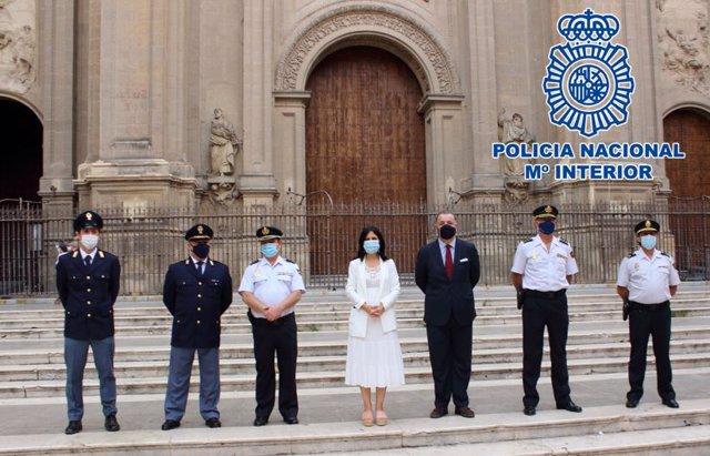Presentación de policías italianos que patrullarán en Granada