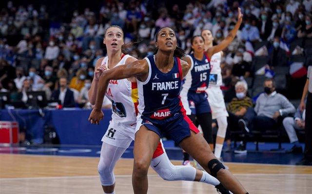 Imagen del Francia-España amistoso previo a los Juegos Olímpicos de Tokio